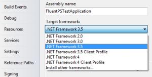 Versão do .NET Framework
