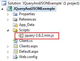 Arquivo JQuery adicionado ao Projeto